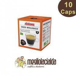 10 capsule Ristora orzo biologico compatibile Dolce Gusto