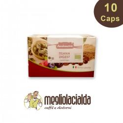 10 capsule Sandemetrio tisana digestiva compatibile Espresso Point