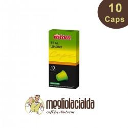 10 capsule Thè al limone Ristora compatibile Nespresso