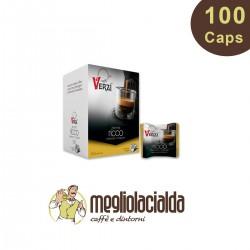 100 capsule Verzì aroma ricco compatibile Bialetti