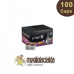100 Capsule Pop caffè E-TUO2 cremoso