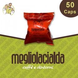 50 capsule Megliolacialda Intenso Bialetti
