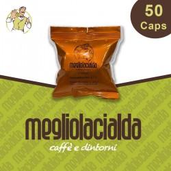 50 capsule Megliolacialda Cremoso compatibile Bialetti