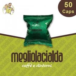 50 capsule Megliolacialda Decaffeinato Nespresso