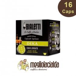 16 Capsule Bialetti DEKA gusto equilibrato