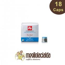 18 capsule Illy originali Iperespresso decaffeinato