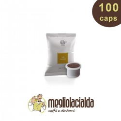 100 capsule Lollo caffè Passione Più miscela oro, compatibili Uno System