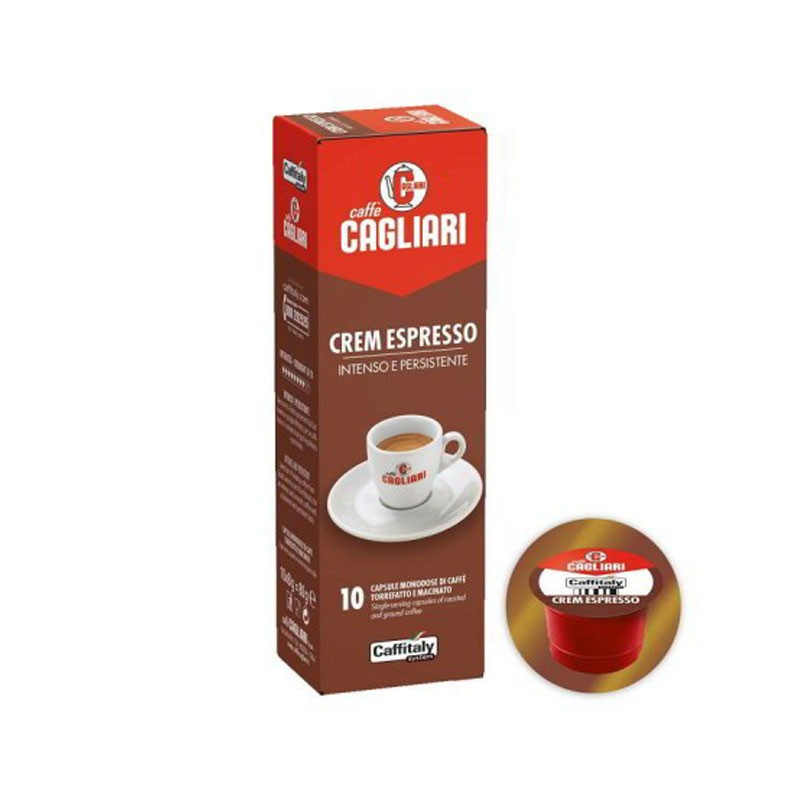 Cagliari Crem Espresso Caffitaly capsule confezione da 10pz